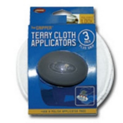 "Carrand 40122 The Gripper 5"" Terry Applicators - 3 pack"