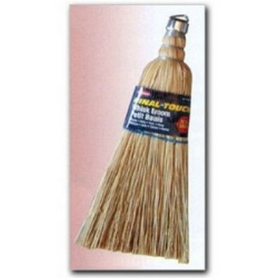 "Carrand 93028 Whisk Broom, 10"" Long, Natural Fibers, with Metal Hanger Loop, Carded"