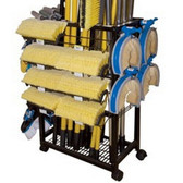 Carrand 9603 Cleaning Brush Rolling Rack - Empty