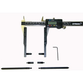Central Tools 3K301 Drum and Rotor Adapter Kit Plus Caliper