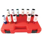 "Chicago Pneumatic SS4211WP 11 Piece 1/2"" Drive Metric and SAE Wheel Nut Protector Impact Socket Set"