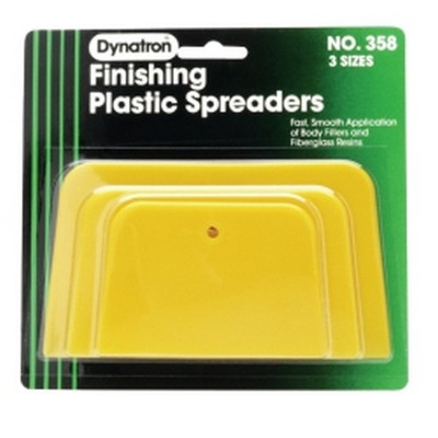 Dynatron Bondo 358 Dynatron® Yellow Spreaders - 3 Pack Assorted