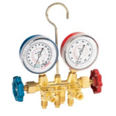 FJC  6721 R134a Brass Manifold Gauge Set with Manual Couplers