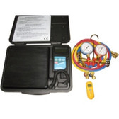 FJC  KIT2 A/C Electronic Scale, Manifold Gauge Set and Non Contact Thermometer