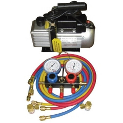 FJC  KIT6 Vacuum Pump and Manifold Gauge Set