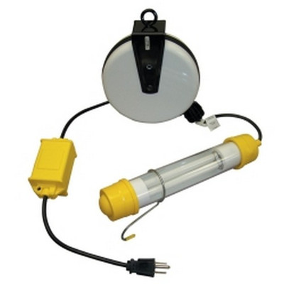 General Manufacturing 3313-2000 Stubby 13 Watt Fluorescent Light Reel with 20' Cord
