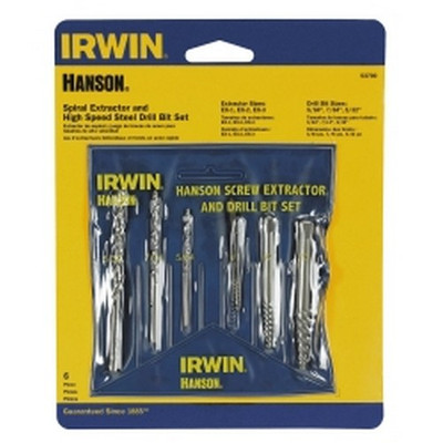 Irwin 53700 6 Pc. Pouched Set Extractor & Hss Drill Set