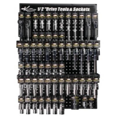 "K Tool KTI-0808 1/2"" Drive Tools and Sockets Display Board"