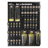 K Tool KTI-0811 USA Torx and Hex Bit Display Board
