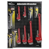 K Tool KTI-0817 Adjustable and Pipe Wrench Display Board