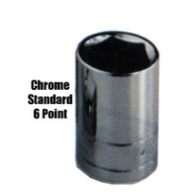 """K Tool KTI-21112 1/4"""" Drive 6 Point Standard Socket, 3/8"""""""