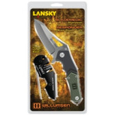 "Lansky Sharpeners UTR7 MIKKEL WILLUMSEN'S Urban Tactical, 7"" Responder Folding Knife & Blademedic Sharpener Combo"