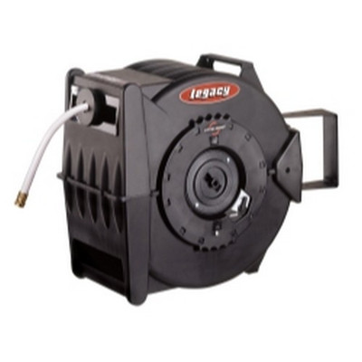 "Legacy L8349 Levelwind Retractable Cold Water Hose Reel with 5/8"" I.D. x 50' Hose"