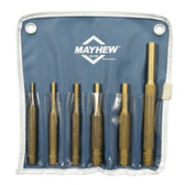 Mayhew Tools 67006 6 Piece Brass Pin Punch Kit