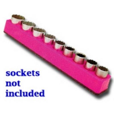 """Mechanics Time Saver 1282 1/2"""" Drive Magnetic Pink Socket Holder   10-19mm"""