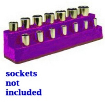 Mechanics Time Saver 1489 3/8 in. Drive 14 Hole Purple Impact Socket Holder