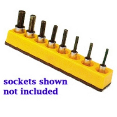 Mechanics Time Saver 383 3/8 in. Drive Universal Magnetic Yellow Socket Holder 10-19mm