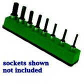 Mechanics Time Saver 386 3/8 in. Drive Universal Magnetic Dark Green Socket Holder 10-19mm