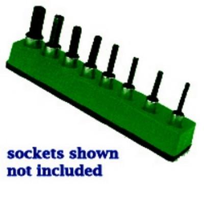 Mechanics Time Saver 386 3/8 in. Drive Universal Magnetic Dark Green Socket Holder 10-19mm