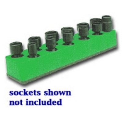 Mechanics Time Saver 986 3/8 in. Drive Universal Dark Green 11 Hole Impact Socket Holder 9-19mm