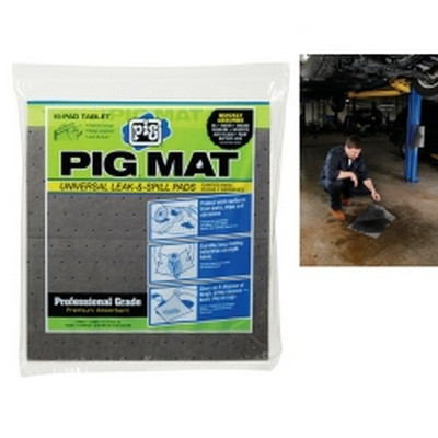 "New Pig 25101 PIG Universal Light-Weight Absorbent Mat Tablet - 14"" x 14.25"" (15 Pads per Tablet)"