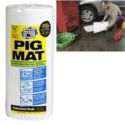 """New Pig 26201 PIG® Water-Repellent Oil-Absorbent Light-Weight Mat Roll - 15"""" x 50' (60 Pads per Roll)"""