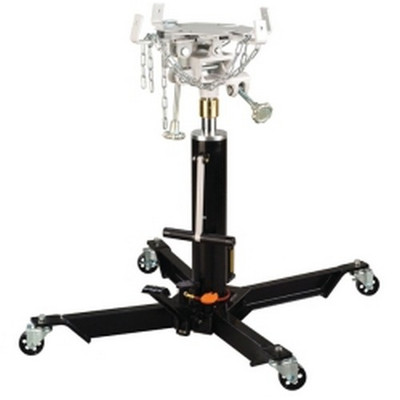Omega 41001 1000 Pound 2-Stage Telescoping Air/Lever Actuated Hydraulic Transmission Jack