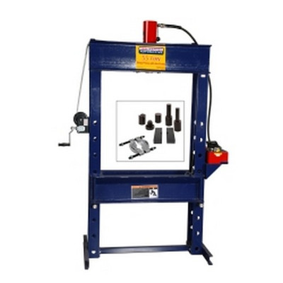 Omega HW93403C 55 Ton Shop Press with Free Press Accessory Kit