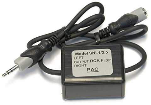 PAC SNI135 Noise Filter For 3.5 Aux. Between Audio Source & Radio