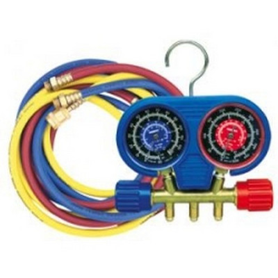 "Robinair 41670 High Pressure Manifold Set for R-410A with 60"" Enviro-Guard Ball Valve Hoses"