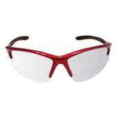SAS Safety 540-0403 DB2 Safety Glasses with Mirror Lens and Red Frame in Polybag
