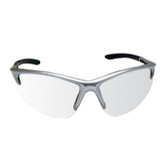 SAS Safety 540-0500 DB2 Safety Glasses with Clear Lenses and Silver Frames in Polybag
