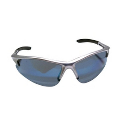 SAS Safety 540-0509 DB2 Safety Glasses with Ice Blue Lens and Silver Frames in Polybag