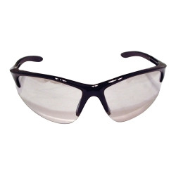 SAS Safety 540-0602 DB2 Safety Glasses with Indoor/Outdoor Lens and Black Frames in Polybag