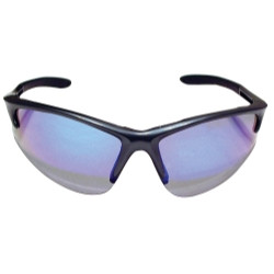 SAS Safety 540-0809 DB2 Safety Glasses with Charcoal Frame and Purple Haze Lenses - Polybag