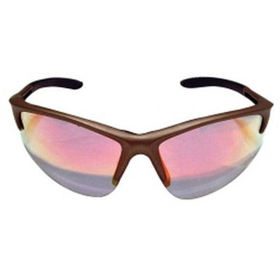 SAS Safety 540-0909 DB2 Safety Glasses with Gold Frame and Iridium Lenses - Polybag