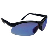 SAS Safety 541-0005 Sidewinders Safety Glasses - Black Frames/Blue Mirror Lens