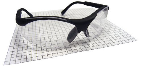 SAS Safety 541-2500 Sidewinders Safety Glasses with Black Frames and 2.5 Readers Lens