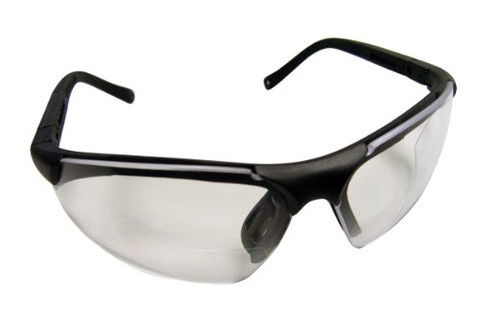 SAS Safety 541-3000 Sidewinders Safety Glasses with Black Frames and 3.0X Readers Lens