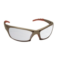 SAS Safety 542-0100 GTR Safety Glasses with Clear Lens and Gold Frame In Polybag