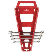 "Hansen Global 5301 Wrench Rack 1/4"" to 15/16"" Labels Red Plastic"