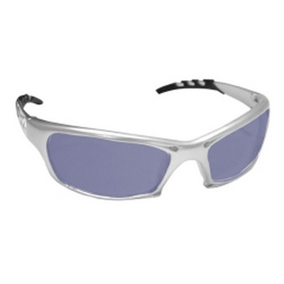 SAS Safety 542-0209 GTR Safety Glases with Silver Frames and Ice Blue Mirror Lens in Polybag