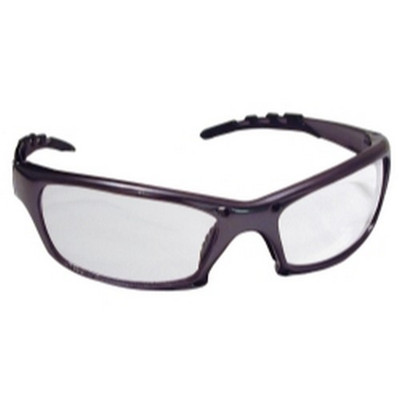 SAS Safety 542-0300 GTR Safety Glasses with Charcoal Frame and Clear Lens in Polybag