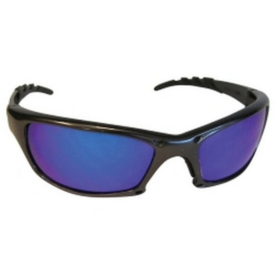 SAS Safety 542-0309 GTR Safety Glasses with Charcoal Frame and Purple Haze Mirror Lens in Polybag