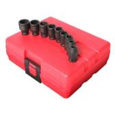 "Sunex Tools 1809 9 Piece 1/4"" Drive Standard Metric Impact Socket Set"