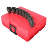 "Sunex Tools 1810 10 Piece 1/4"" Drive Standard SAE Impact Socket Set"