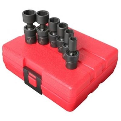 "Sunex Tools 1813 6 Piece 1/4"" Drive Universal SAE Impact Socket Set"