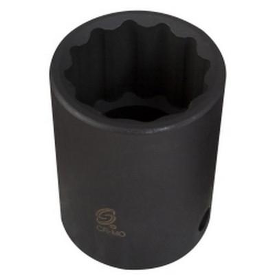 "Sunex Tools 219ZM 1/2"" Drive 12 Point Standard Impact Socket 19mm"