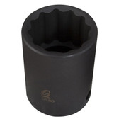 "Sunex Tools 221ZM 1/2"" Drive 12 Point Standard Impact Socket 21mm"