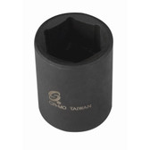 "Sunex Tools 244 1/2"" Drive 6 Point Standard Impact Socket 1-3/8"""